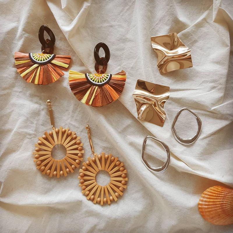 Sahari Raffia Drop Earrings on kellinsilver.com
