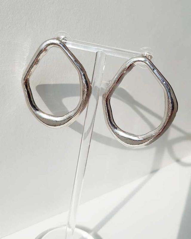 Geometric Oval Earrings on kellinsilver.com
