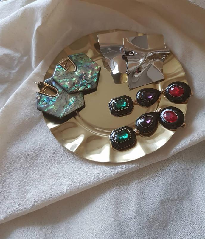 Abalon Hexagon Earrings on kellinsilver.com