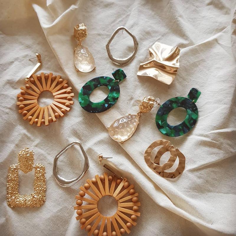 Luna Wood Earrings on kellinsilver.com