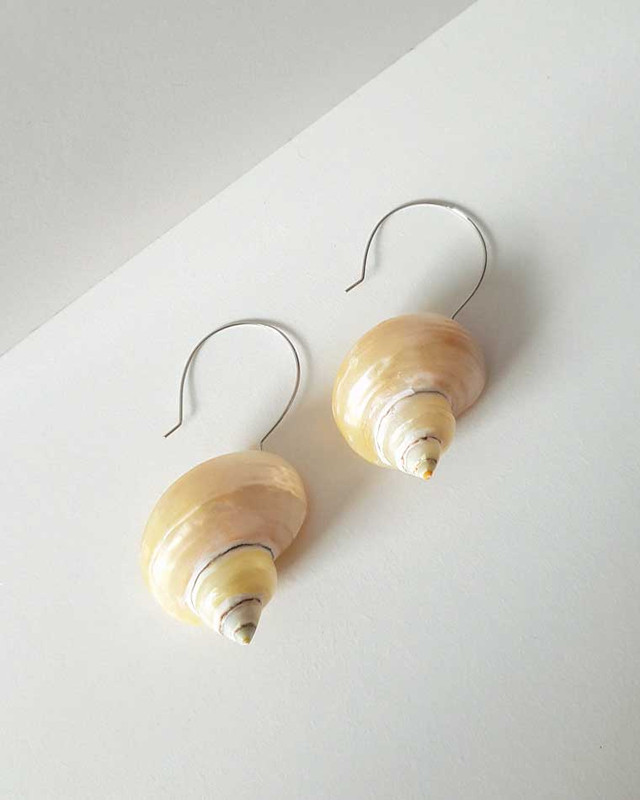 Turbo Shell Earrings on kellinsilver.com