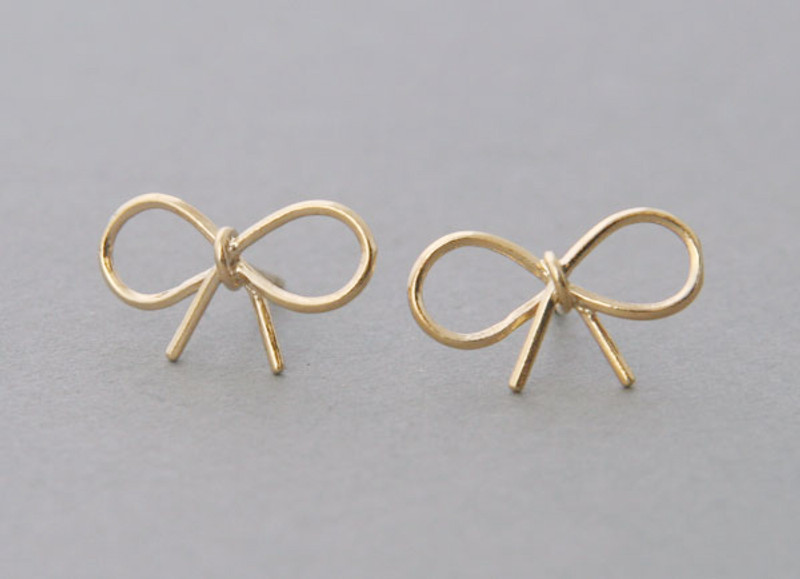 Reminder Bow Earrings Yellow Gold