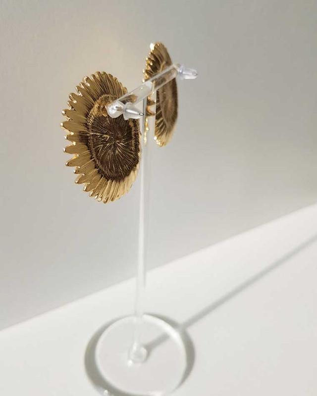 Fleur Daisy Studs in Gold on kellinsilver.com
