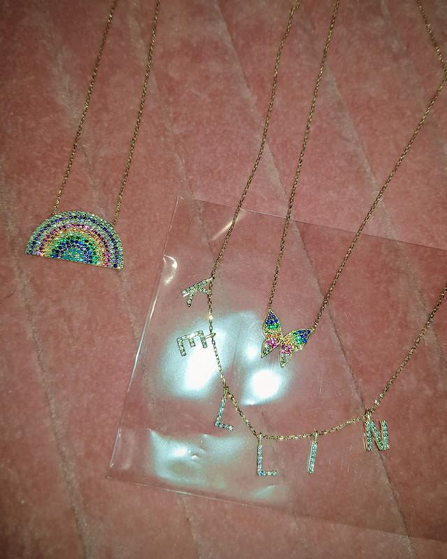 Kellin Rainbow Necklace in Stering Silver on kellinsilver.com