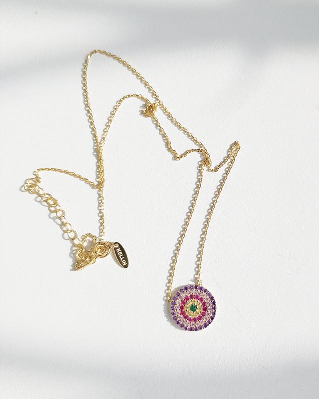Purple Evil Eye Necklace in Sterling Silver from kellinsilver.com