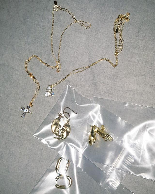 Tiny French Hoop Earrings in Sterling Silver on kellinsilver.com
