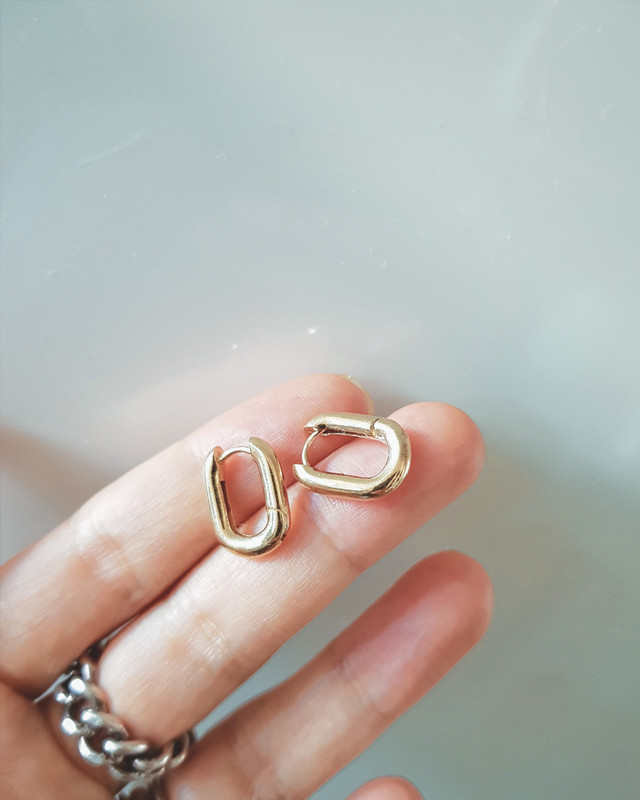 Tiny French Hoop Earrings in Sterling Silver on kellinsilver.com