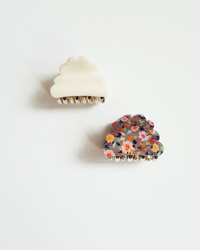Cuty Cloud Hair Claws Set of 2 in Cream on kellinsilver.com