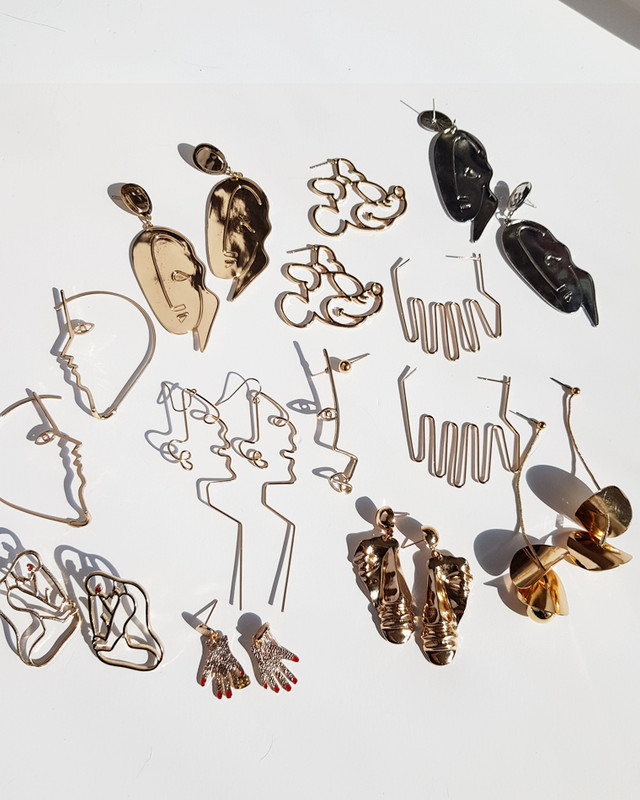 Artsy Female Body Silhouette Studs on kellinsilver.com