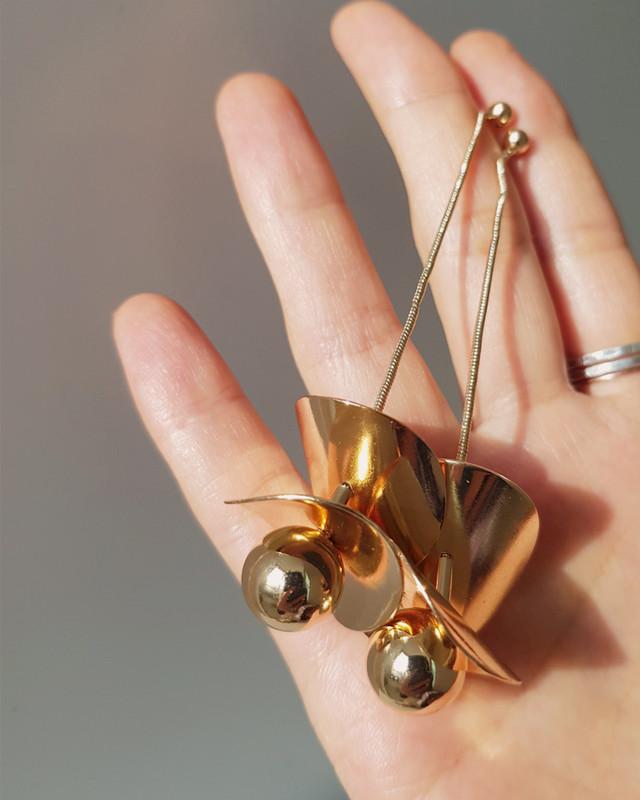 Lolita Gold Ball Drop Earrings on kellinsilver.com