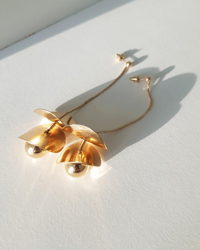 Lolita Gold Ball Drop Earrings