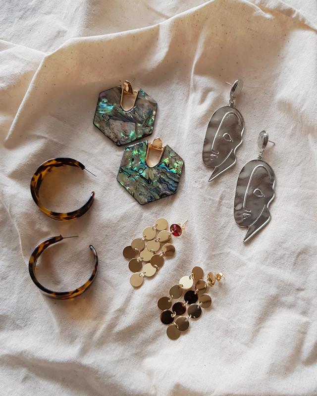 Abstract Vintage Face Drop Earrings on kellinsilver.com