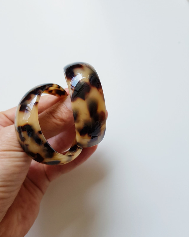 Kaia Tortoise Huggie Hoop Earrings on kellinsilver.com