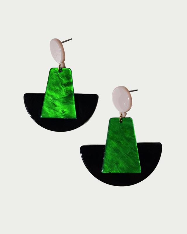 Cynthia Green Acrylic Earrings on kellinsilver.com
