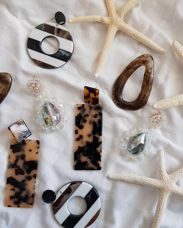 Dani Brown Resin Stud Earrings  Fashion Accessories on kellinsilver.com