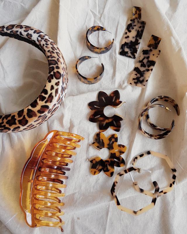 Tortoise Long Rectangle Earrings on kellinsilver.com
