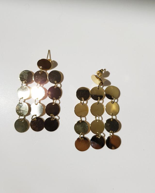 Gold Statement Metal Dangle Earrings on kellinsilver.com