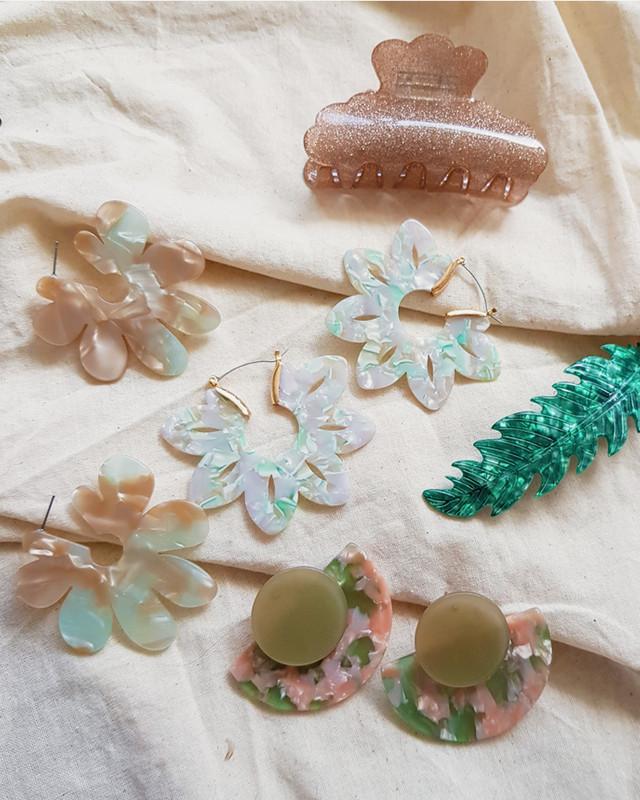 Julie Daisy Hoop Earrings on kellinsilver.com