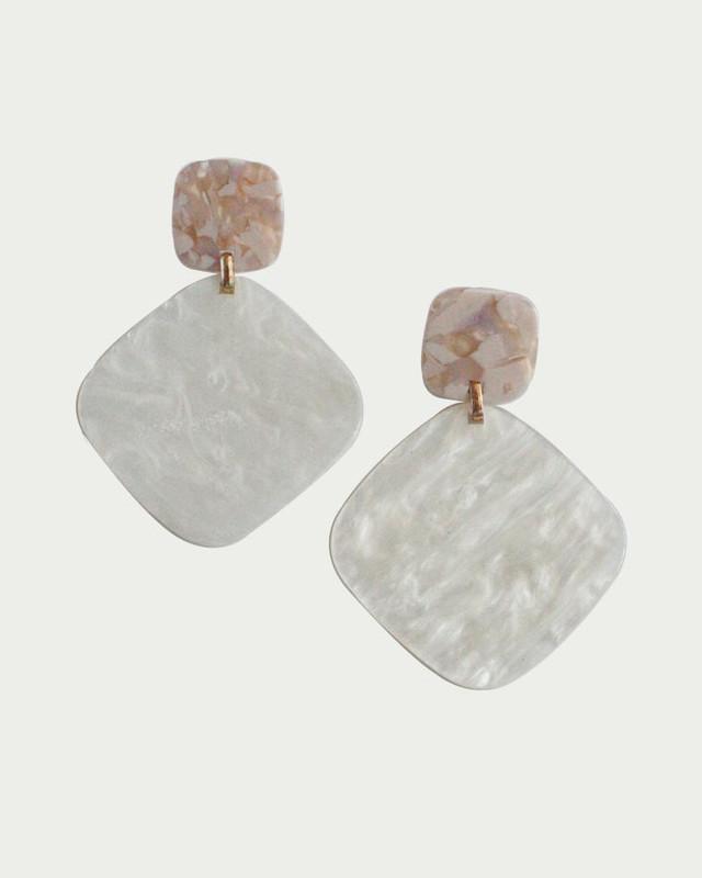 Lain Marbling Drop Earrings on kellinsilver.com