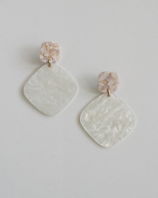 Lain Marbling Drop Earrings on kellinsilver.com