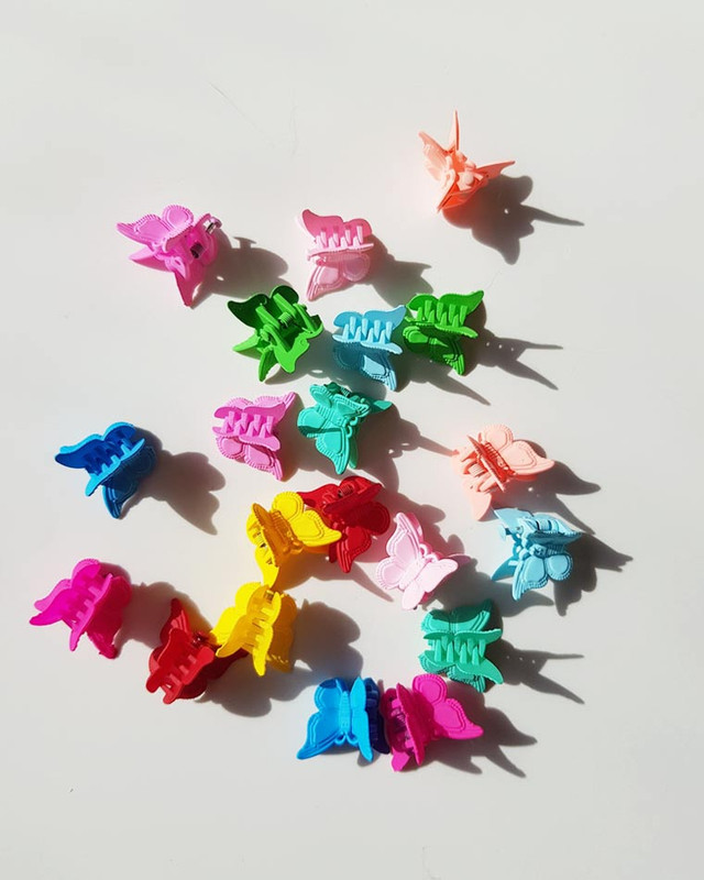 Mini Butterfly Clip Claws Set of 20 on kellinsilver.com