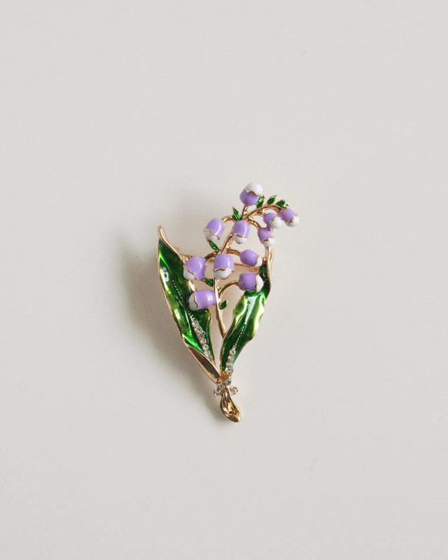 Purple Bellflower Brooch on kellinsilver.com