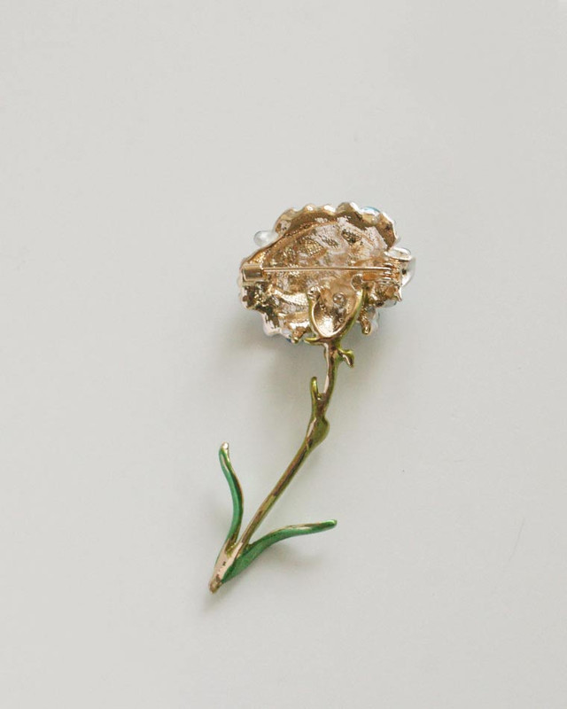 Blue Carnation Brooch on kellinsilver.com