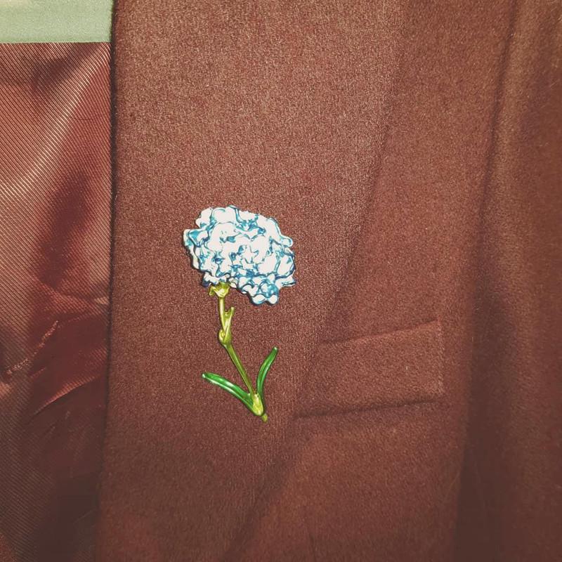 Blue Carnation Brooch on kellinsilver.com