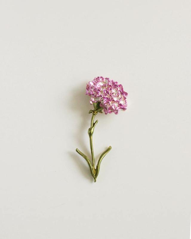 Pink Carnation Brooch on kellinsilver.com