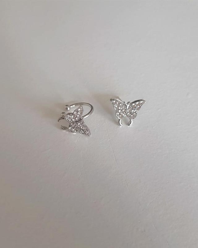 Small CZ Butterfly Earrings on kellinsilver.com