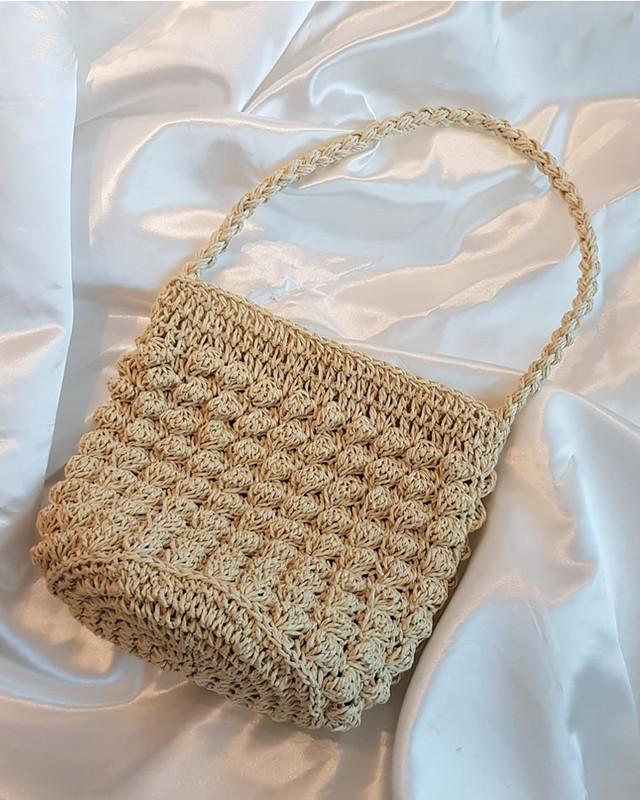Mina Straw Bucket Bag on kellinsilver.com
