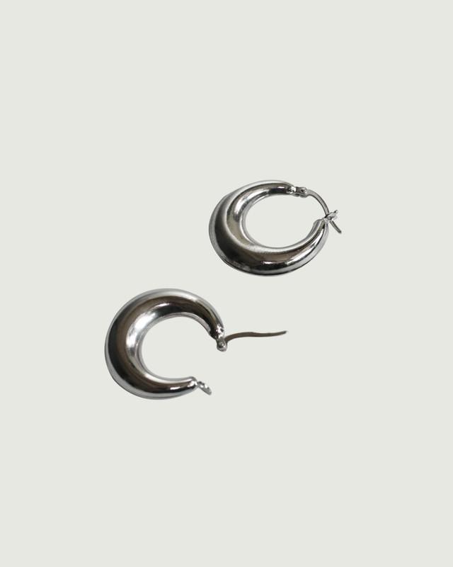 Sterling Silver Sadie Bold Hoop Earrings 25mm on kellinsilver.com