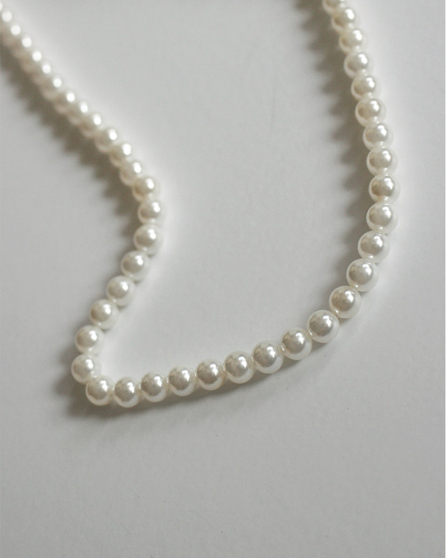 5mm Nucleus Pearl Beaded Necklace in Sterling Silver on kellinsilver.com