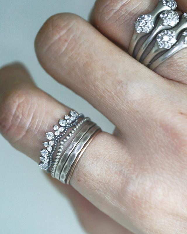 Oxidized Sterling Silver Tiara Cuff Ring on kellinsilver.com