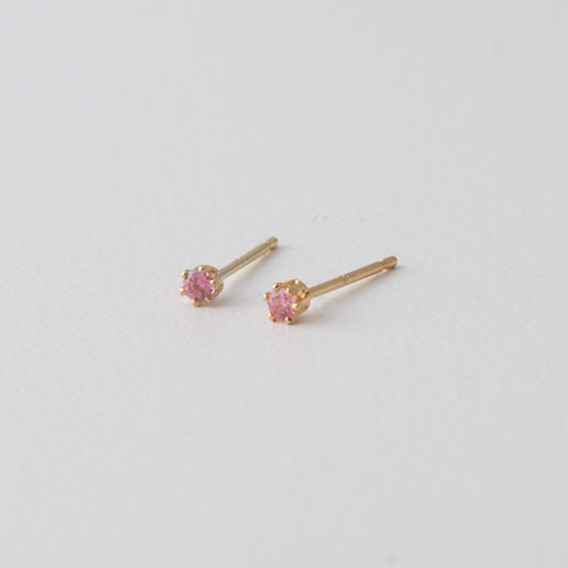 2mm Swarovski Solitaire Studs Gold Six Claw Earrings from kellinsilver.com - rose