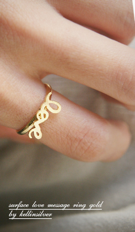 Blushed Gold Love Ring