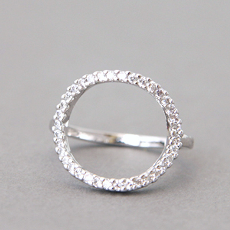 Swarovski Circle Ring White Gold from kellinsilver.com