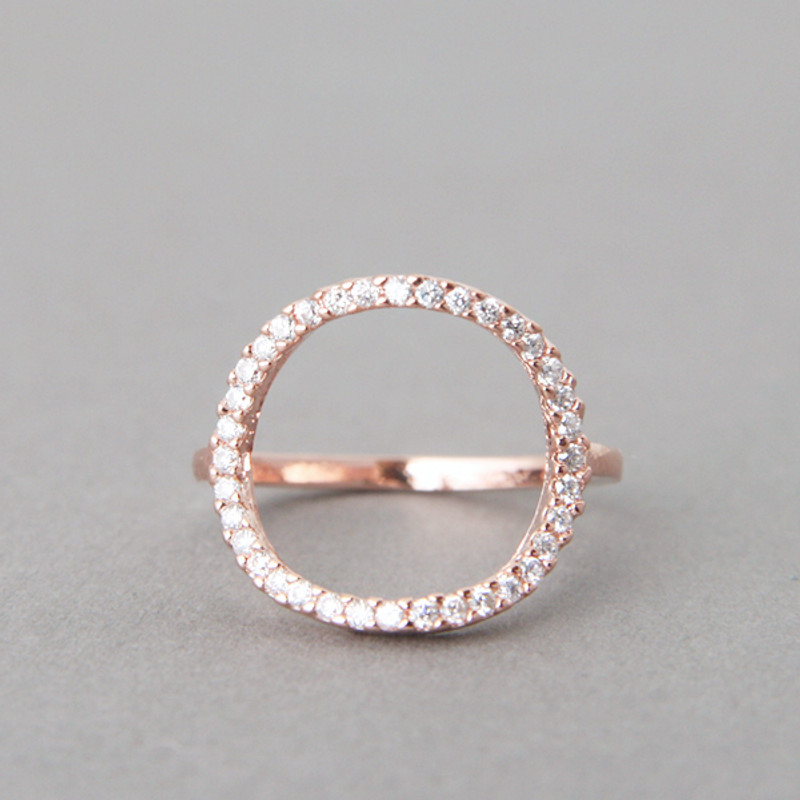 Swarovski Circle Ring Rose Gold from kellinsilver.com