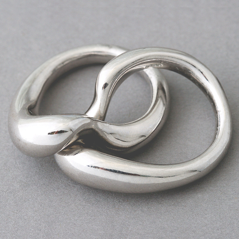 Bold Love Knot Ring Sterling Silver
