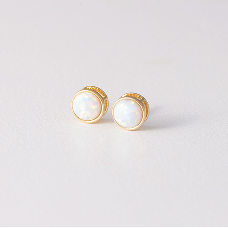 Gold Opal Studs Earrings from kellinsilver.com