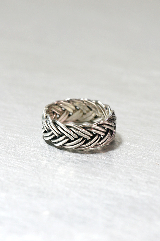 Oxidized Sterling Silver Braided Eternity Ring from kellinsilver.com