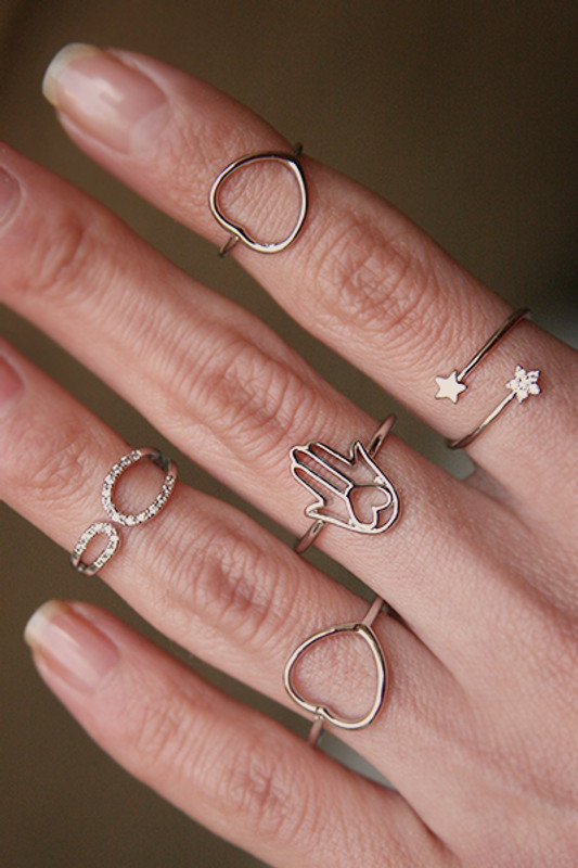 Cute Star Wrap Ring White Gold from kellinsilver.com