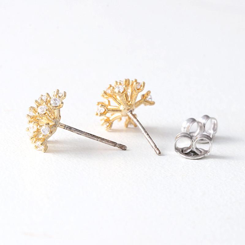 CZ Fireworks Stud Earrings Gold from kellinsilver.com