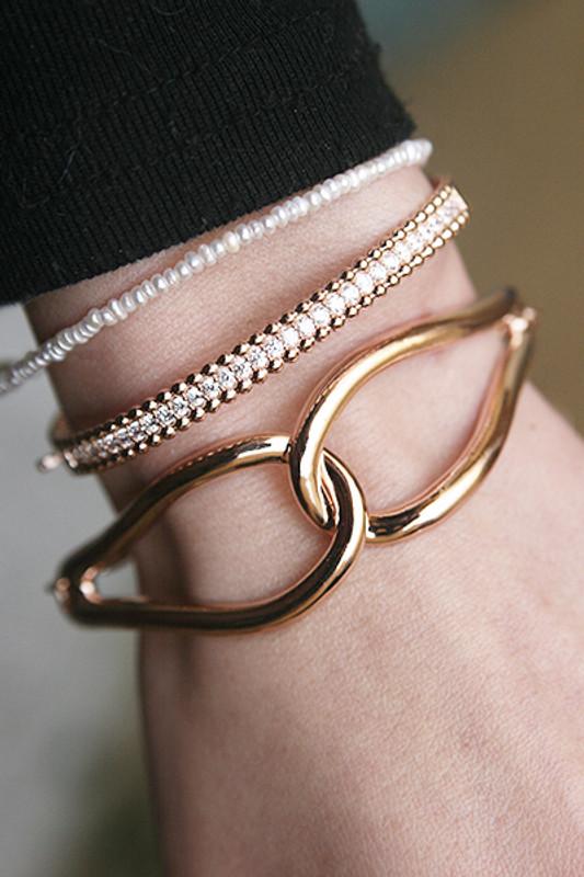 Sterling Silver Infinity Knot Bracelet Rose Gold from kellinsilver.com