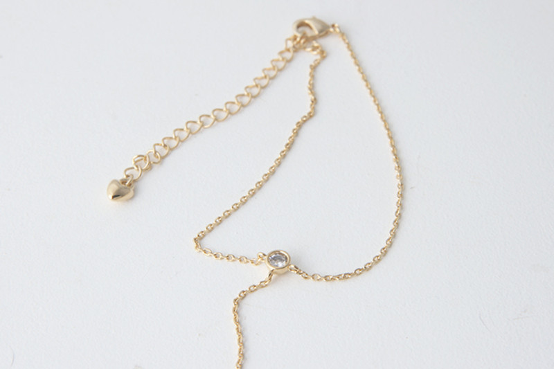 Bezel Bracelet Ring Gold from kellinsilver.com