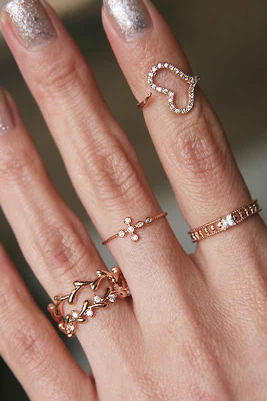 rose gold olive ring set of 2 from kellinsilver.com