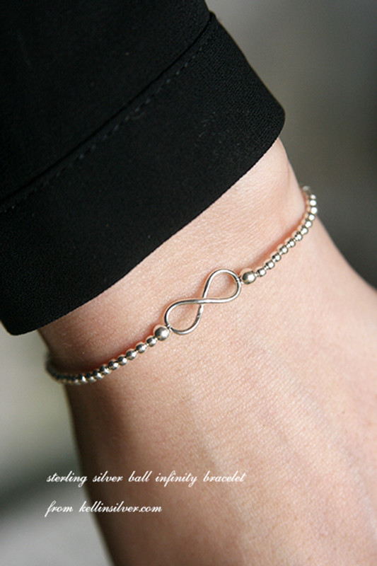 Sterling Silver Ball Infinity Bracelet from kellinsilver.com