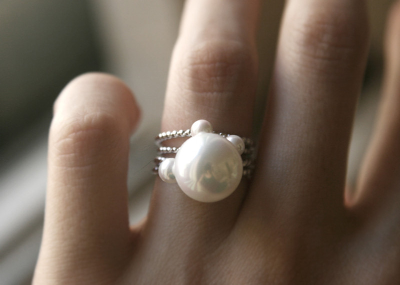 Sterling Silver 12mm Pearl Solitaire Ring from kellinsilver.com
