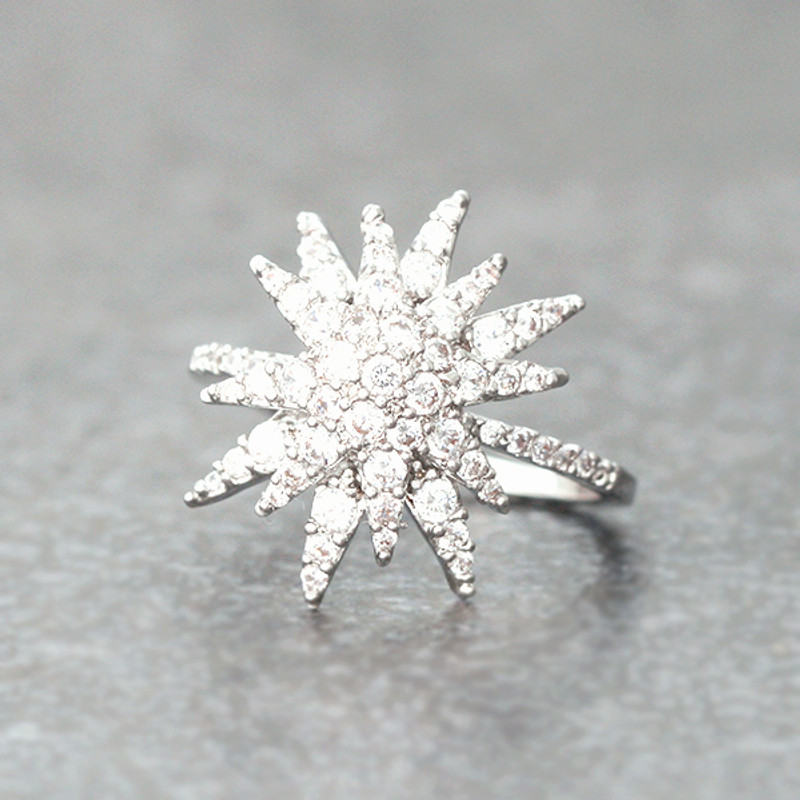 CZ White Gold Galaxia Ring from kellinsilver.com