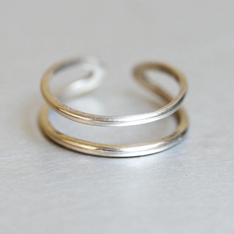 Sterling Silver Simple Double Ring Wrap from kellinsilver.com
